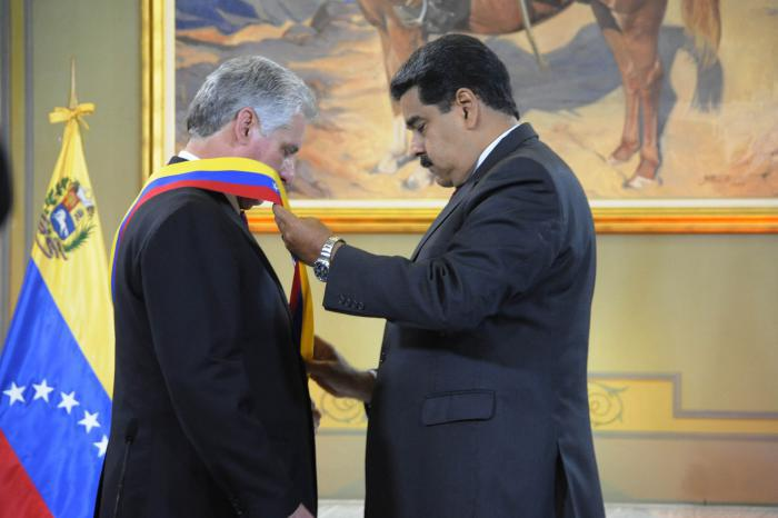Maduro y Diaz-Canel