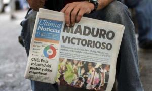 Los sufragios a favor de Maduro triplicaron la votación alcanzada por su más cercano contendor, Henri Falcón.