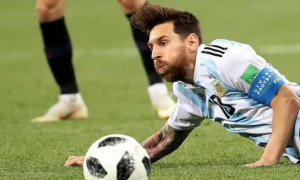Lionel Messi apenas inquietó a la defensa de Croacia.