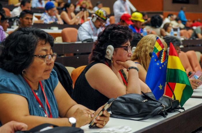 Plenaria especial sobre el pensamiento de Fidel Castro en la XXIV Encuentro del Foro de Sao Paulo en el Palacio de Convenciones de La Habana