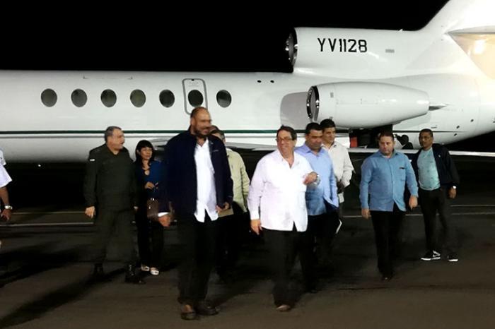 Canciller cubano llega a Nicaragua para participar en festejos nacionales
