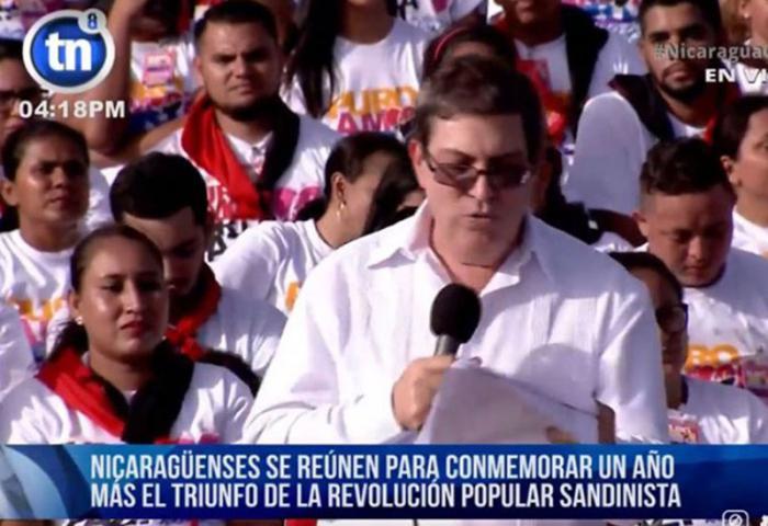 El Canciller Cubano se dirigió al pueblo de Nicaragua