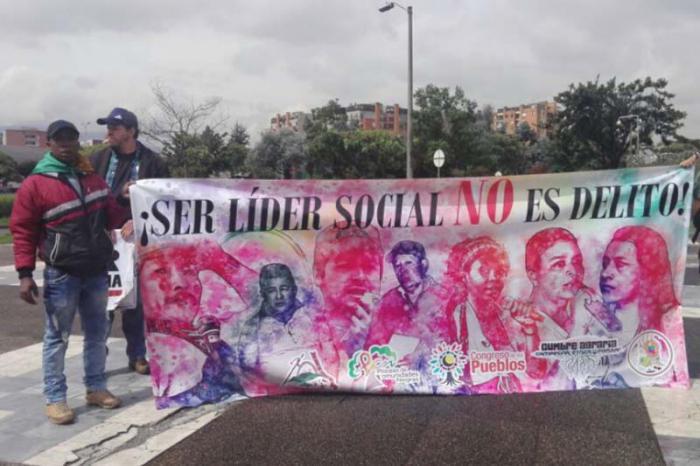 En cuatro meses han sido asesinados unos 50 líderes sociales en Colombia