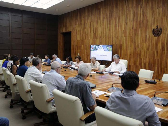Díaz - Canel evaluó medidas contra el Cambio Climático