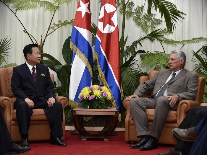 Díaz-Canel recibió al Vicepresidente del Comité de Estado de la RPDC