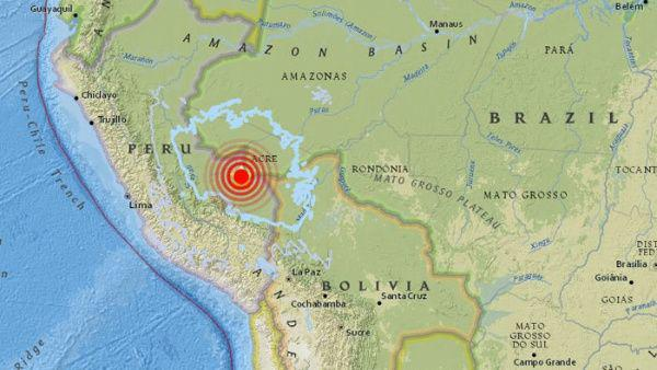 Se registró esta madruga en Perú sismo de magnitud 7