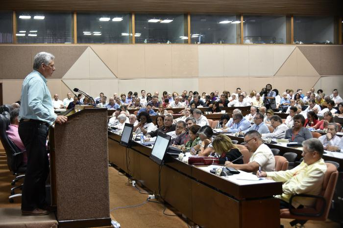 Encabezó presidente cubano encuentro de trabajo con Juntas de Gobierno y Organizaciones Superiores de Dirección Empresarial