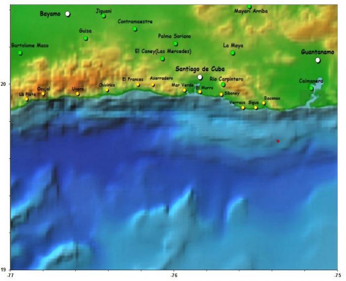 Sismo perceptible en dos provincias del oriente cubano