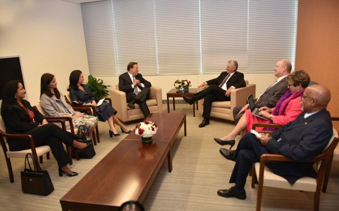Encuentro con el Presidente de Panamá.