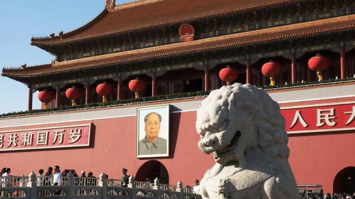 Desde esta entrada de la Ciudad Prohibida, Mao presidió el primer desfile del victorioso Ejército Popular y del pueblo chino. Foto: Xinhua