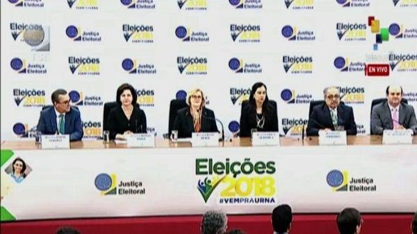 TSE de Brasil ofrece primer balance de elecciones generales