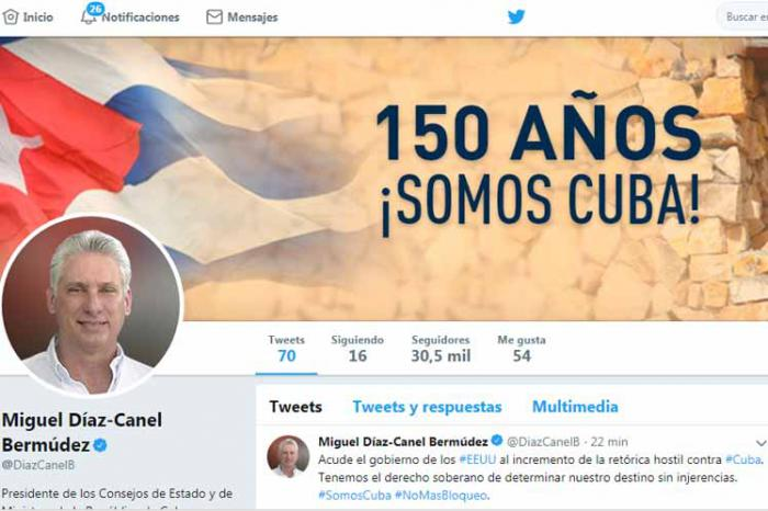 Díaz-Canel denuncia desde Twitter las consecuencias del bloqueo estadounidense para el pueblo de Cuba
