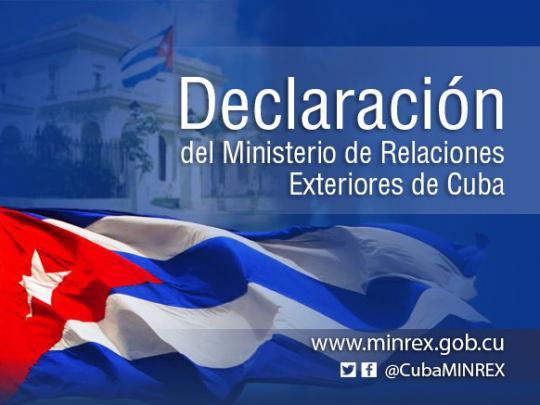 Cuba rechaza activación del Tratado Interamericano de Asistencia Recíproca
