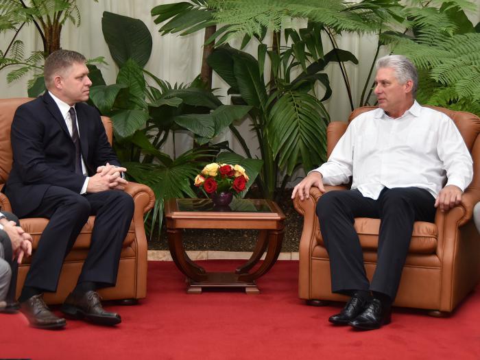 Recibió Díaz-Canel a Robert Fico, ex primer ministro de la República de Eslovaquia