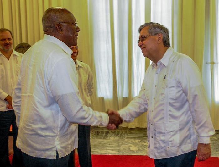 Valdés Mesa recibe al Vicepresidente de Guatemala