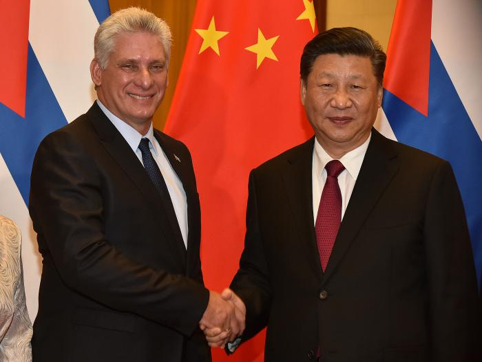 Recibimiento presidente de China