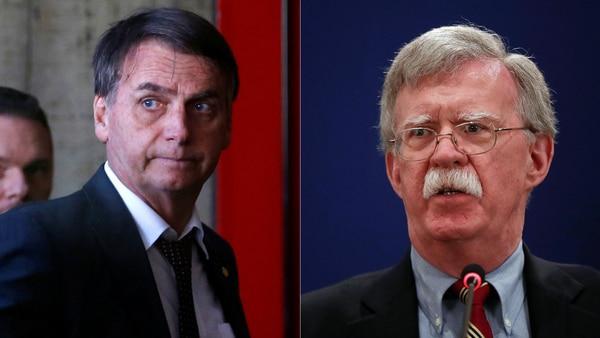 Jair Bolsonaro y John Bolton