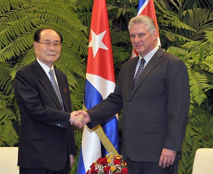 Recibe Díaz-Canel a alto dirigente de la República Popular Democrática de Corea