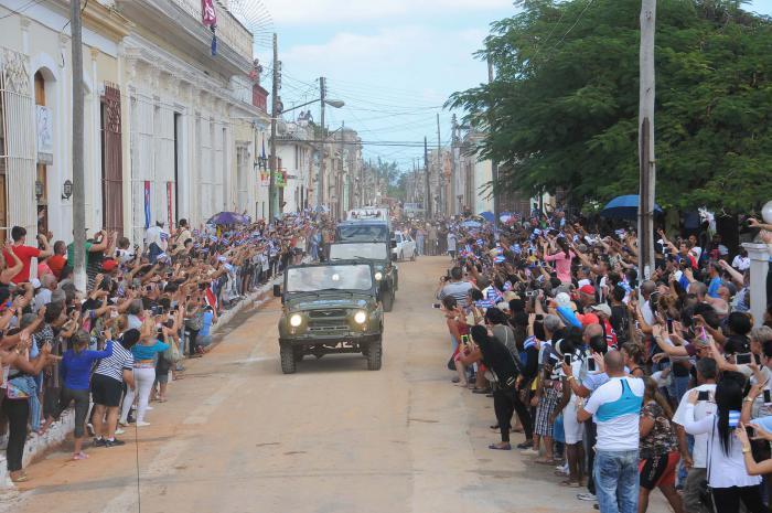 Cortejo funebre del Comandante en Jefe Fidel Castro Ruz. Cardenas