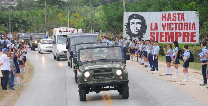 Cortejo funebre del Comandante en Jefe Fidel Castro Ruz. SS