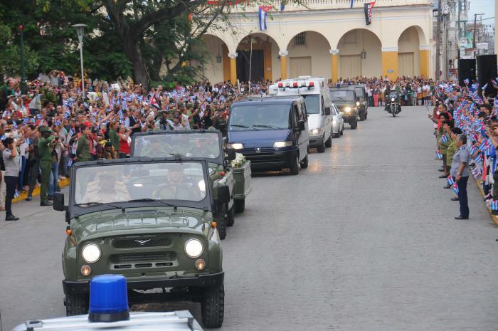 Cortejo funebre del Comandante en Jefe Fidel Castro Ruz. SANTA CLARA