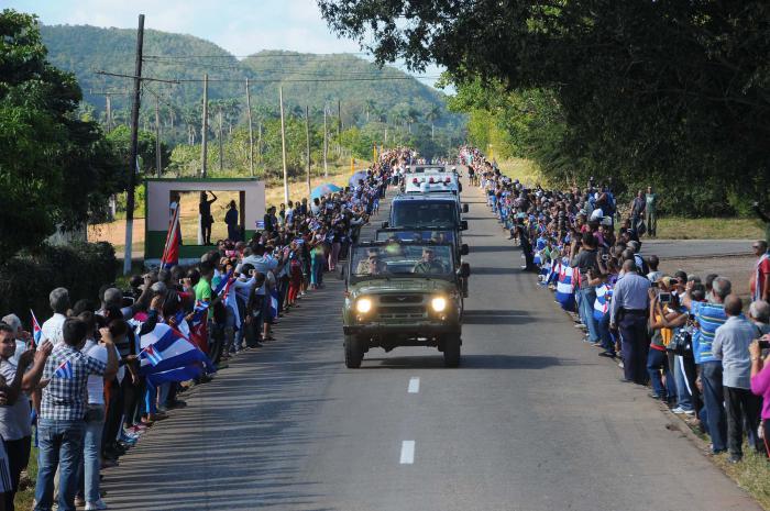 Cortejo funebre del Comandante en Jefe Fidel Castro Ruz.