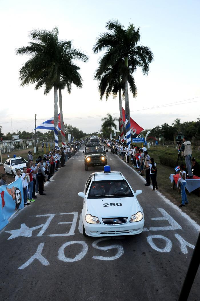 Cortejo funebre del Comandante en Jefe Fidel Castro Ruz. El cortejo se ubicò en Santa Clara en el Monumento al Che
