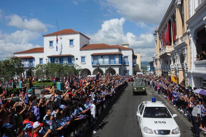 Cortejo funebre del Comandante en Jefe Fidel Castro Ruz. SANTIAGO DE CUBA