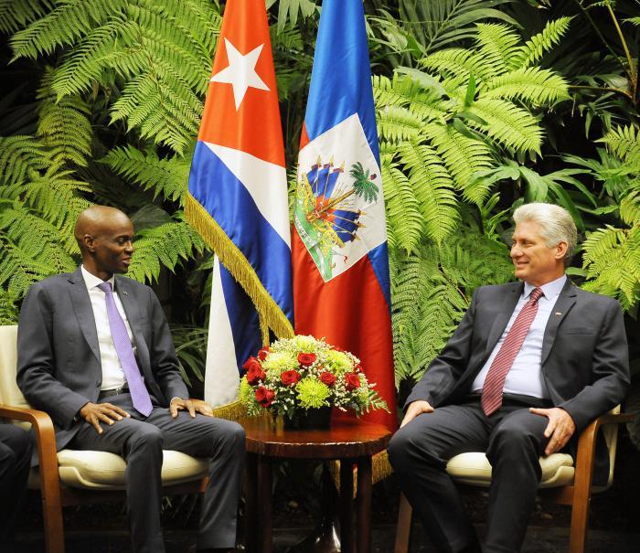 Díaz-Canel recibe al Presidente de Haití