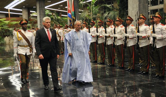 Dialogan Díaz-Canel y Presidente de la República Árabe Saharaui Democrática