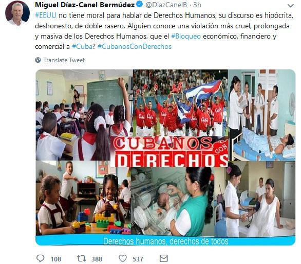 Crítica Díaz-Canel las nuevas acusaciones de Estados Unidos contra Cuba