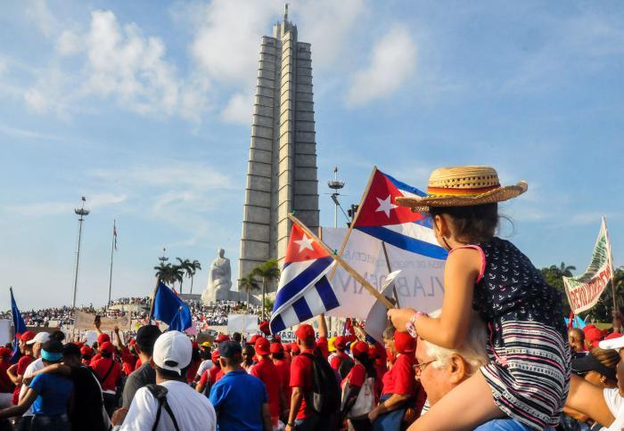 Marcha por el 1ro de Mayo, en la Plaza de la Revolución