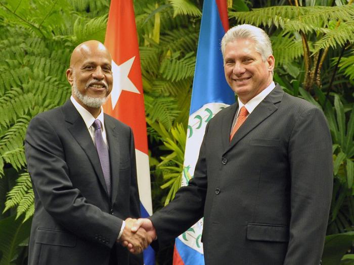 Diaz-Canel receives Prime Minister of Belize