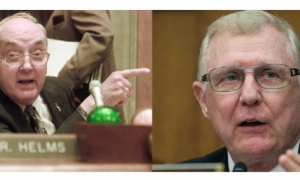 Jesses Helms y Dan Burton, artífices de la agresiva Ley Helms-Burton.