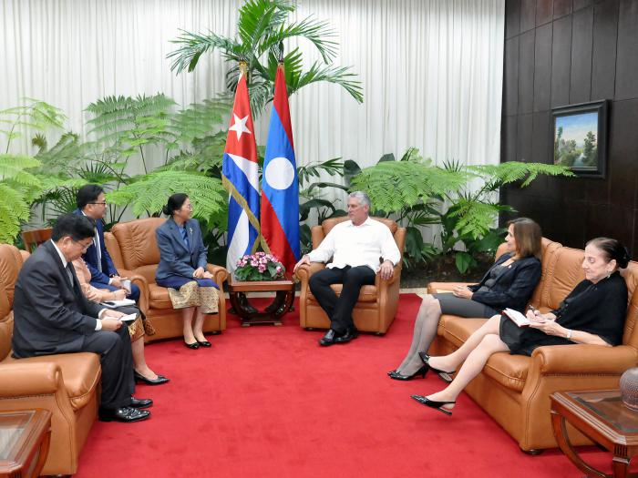 Diaz-Canel receives President of Laos National Assembly