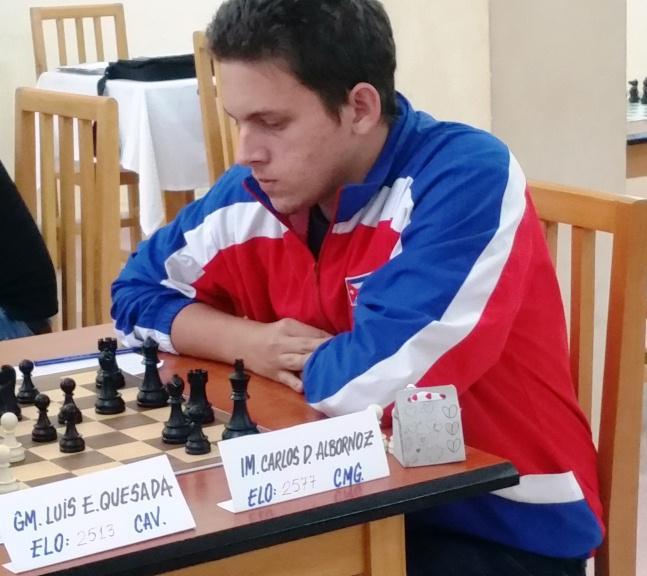 Camagüeyano Carlos Albornoz incrementa su coeficiente Elo