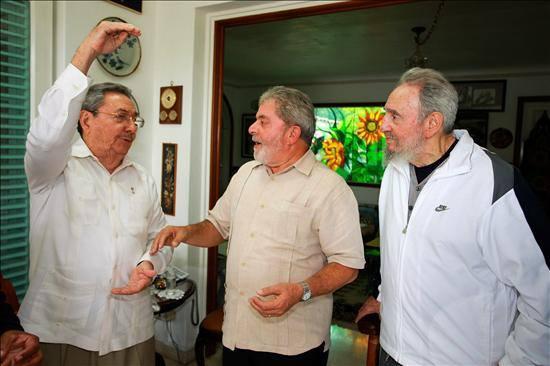 Fidel,Raul y Lula