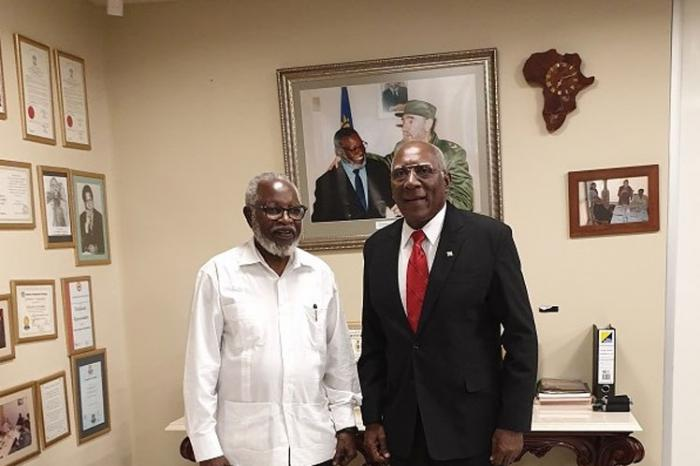 Sam Nujoma receives Cuba´s First Vice-President