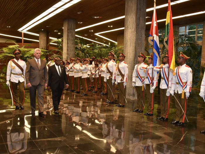 Díaz- Canel recibe al Presidente de Ghana (+Fotos)