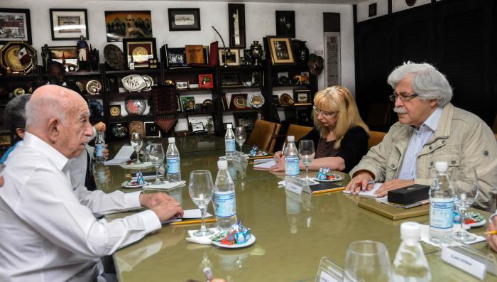 Machado Ventura recibió a delegación partidista de Luxemburgo