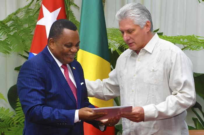 Díaz-Canel recibe al Canciller de la República del Congo