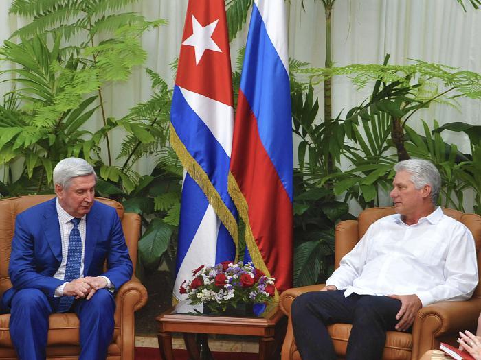 Díaz-Canel recibió al líder parlamentario y político ruso Iván I. Mélnikov