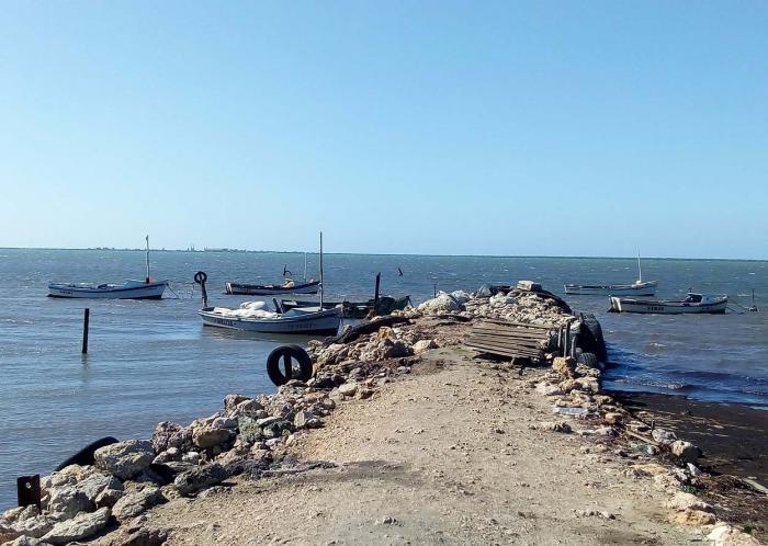 Las de Cascarero son pequeñas embarcaciones propiedad de los pescadores de la zona. fotos de la autora