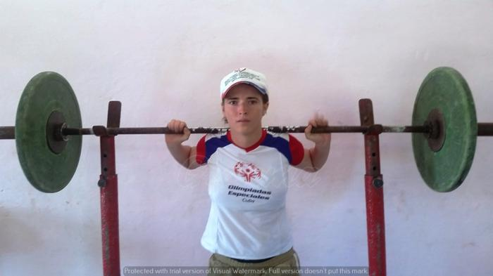 Yaritza Parrado es un ejemplo de entrega al deporte. Foto del autor