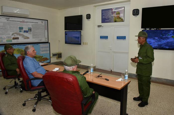 Participa presidente cubano en ejercicio de la Defensa Civil Meteoro 2019