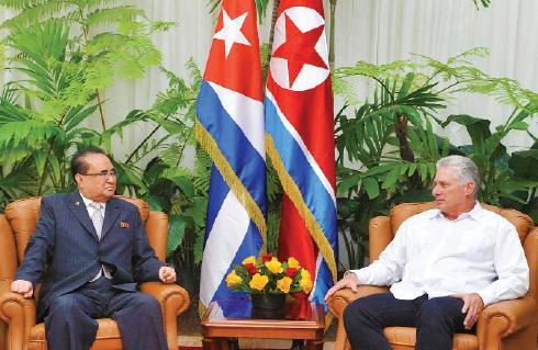 Díaz-Canel recibió en La Habana a Ri Su Yong