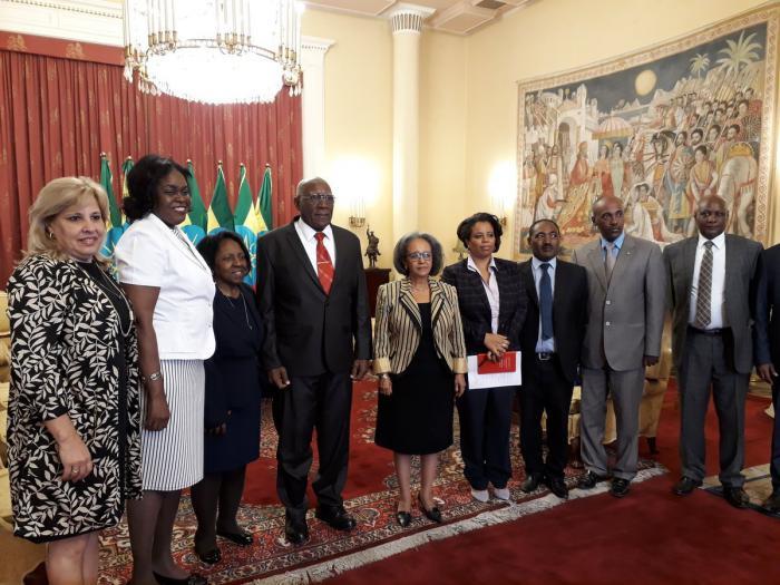 Reciben a Salvador Valdés Mesa la Presidenta y el Canciller de Etiopía