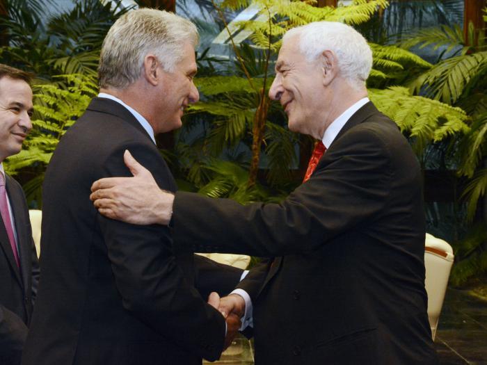Recibió Díaz-Canel al Copresidente de la Iniciativa Cuba