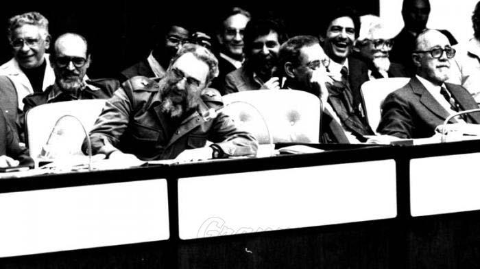 Fidel en el IV Congreso de la Uneac.