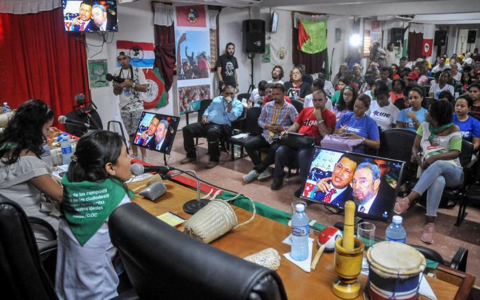 Campesinos latinoamericanos repudian bloqueo de EE.UU. a Cuba